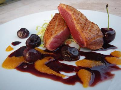 Ricette alta cucina petto di germano reale su salsa di ciliegie - Al ta cucina ricette ...