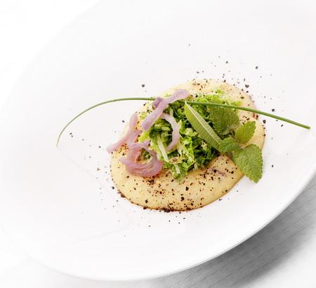 Polenta ostriche e cipolla dello chef christian contu for Cucina creativa