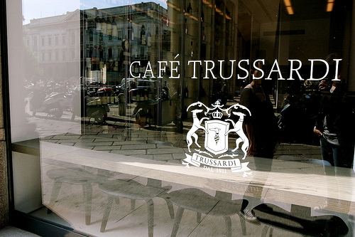 A special dish for the holidays at the Café Trussardi ...