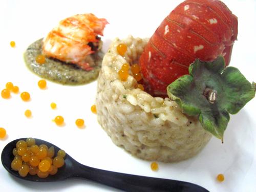 Ricette d alta cucina riso con caviale di kaki for Ricette alta cucina